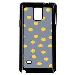 Limpet Polka Dot Yellow Grey Samsung Galaxy Note 4 Case (black) by Mariart