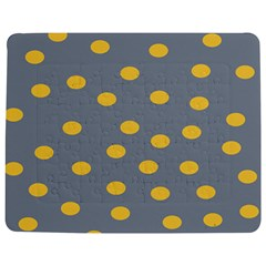 Limpet Polka Dot Yellow Grey Jigsaw Puzzle Photo Stand (rectangular) by Mariart
