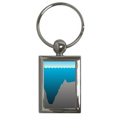 Mariana Trench Sea Beach Water Blue Key Chains (rectangle)  by Mariart
