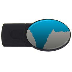 Mariana Trench Sea Beach Water Blue Usb Flash Drive Oval (2 Gb) by Mariart