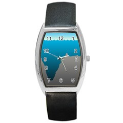 Mariana Trench Sea Beach Water Blue Barrel Style Metal Watch by Mariart