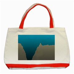 Mariana Trench Sea Beach Water Blue Classic Tote Bag (red) by Mariart