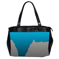 Mariana Trench Sea Beach Water Blue Office Handbags (2 Sides)  by Mariart