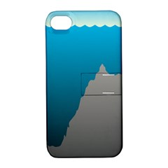 Mariana Trench Sea Beach Water Blue Apple Iphone 4/4s Hardshell Case With Stand