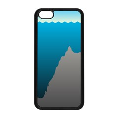 Mariana Trench Sea Beach Water Blue Apple Iphone 5c Seamless Case (black) by Mariart
