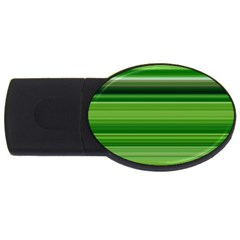 Horizontal Stripes Line Green Usb Flash Drive Oval (2 Gb) by Mariart