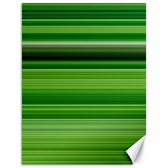 Horizontal Stripes Line Green Canvas 12  X 16   by Mariart