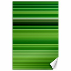 Horizontal Stripes Line Green Canvas 24  X 36  by Mariart