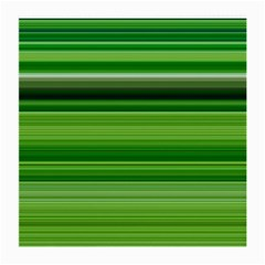 Horizontal Stripes Line Green Medium Glasses Cloth (2-side) by Mariart