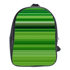 Horizontal Stripes Line Green School Bags(large)