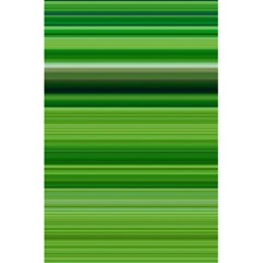 Horizontal Stripes Line Green 5 5  X 8 5  Notebooks by Mariart