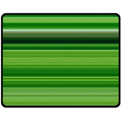 Horizontal Stripes Line Green Fleece Blanket (medium)  by Mariart