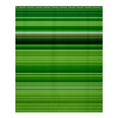 Horizontal Stripes Line Green Shower Curtain 60  X 72  (medium)  by Mariart