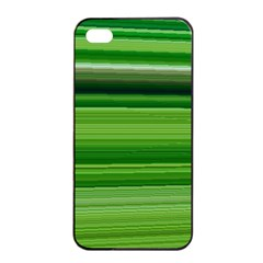 Horizontal Stripes Line Green Apple Iphone 4/4s Seamless Case (black) by Mariart