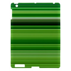 Horizontal Stripes Line Green Apple Ipad 3/4 Hardshell Case by Mariart