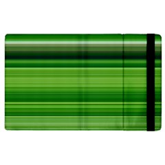 Horizontal Stripes Line Green Apple Ipad 3/4 Flip Case by Mariart