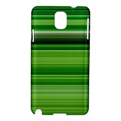 Horizontal Stripes Line Green Samsung Galaxy Note 3 N9005 Hardshell Case by Mariart