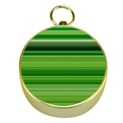 Horizontal Stripes Line Green Gold Compasses by Mariart