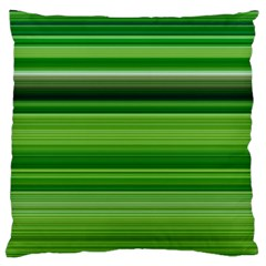 Horizontal Stripes Line Green Large Flano Cushion Case (two Sides) by Mariart