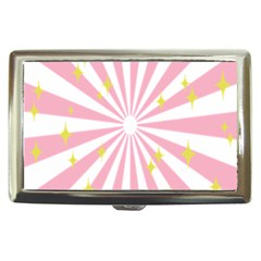 Hurak Pink Star Yellow Hole Sunlight Light Cigarette Money Cases by Mariart