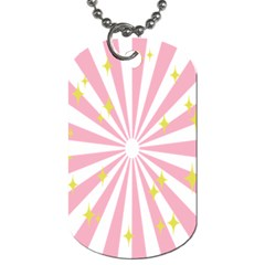 Hurak Pink Star Yellow Hole Sunlight Light Dog Tag (two Sides) by Mariart