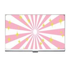 Hurak Pink Star Yellow Hole Sunlight Light Business Card Holders by Mariart