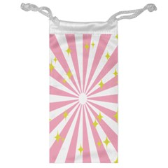 Hurak Pink Star Yellow Hole Sunlight Light Jewelry Bag by Mariart