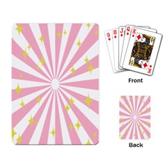 Hurak Pink Star Yellow Hole Sunlight Light Playing Card by Mariart