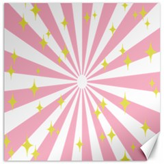 Hurak Pink Star Yellow Hole Sunlight Light Canvas 16  X 16   by Mariart