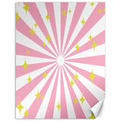 Hurak Pink Star Yellow Hole Sunlight Light Canvas 18  X 24   by Mariart