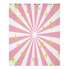 Hurak Pink Star Yellow Hole Sunlight Light Shower Curtain 60  X 72  (medium)  by Mariart