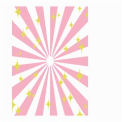 Hurak Pink Star Yellow Hole Sunlight Light Small Garden Flag (two Sides) by Mariart