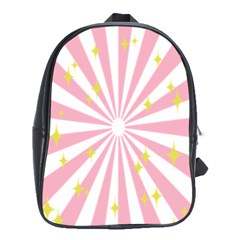 Hurak Pink Star Yellow Hole Sunlight Light School Bags (xl)  by Mariart