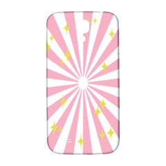 Hurak Pink Star Yellow Hole Sunlight Light Samsung Galaxy S4 I9500/i9505  Hardshell Back Case by Mariart