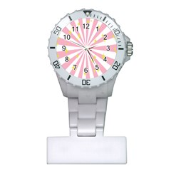 Hurak Pink Star Yellow Hole Sunlight Light Plastic Nurses Watch by Mariart