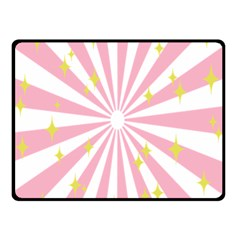 Hurak Pink Star Yellow Hole Sunlight Light Double Sided Fleece Blanket (small)  by Mariart