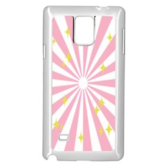 Hurak Pink Star Yellow Hole Sunlight Light Samsung Galaxy Note 4 Case (white) by Mariart
