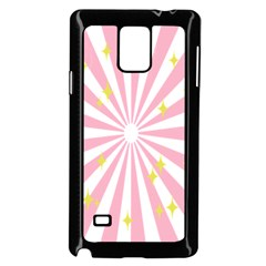 Hurak Pink Star Yellow Hole Sunlight Light Samsung Galaxy Note 4 Case (black) by Mariart