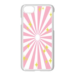 Hurak Pink Star Yellow Hole Sunlight Light Apple Iphone 7 Seamless Case (white) by Mariart