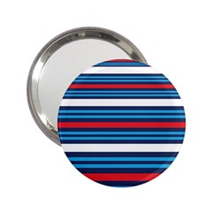Martini Style Racing Tape Blue Red White 2 25  Handbag Mirrors by Mariart