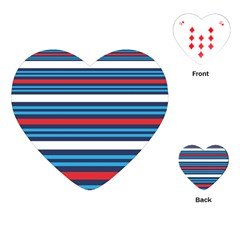 Martini Style Racing Tape Blue Red White Playing Cards (heart)  by Mariart