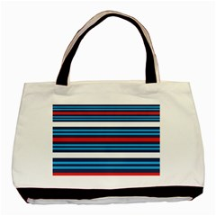 Martini Style Racing Tape Blue Red White Basic Tote Bag by Mariart