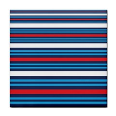 Martini Style Racing Tape Blue Red White Face Towel by Mariart