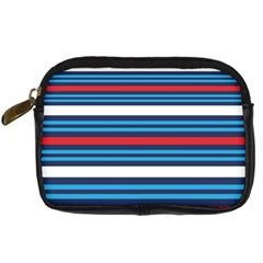 Martini Style Racing Tape Blue Red White Digital Camera Cases by Mariart