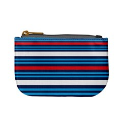 Martini Style Racing Tape Blue Red White Mini Coin Purses