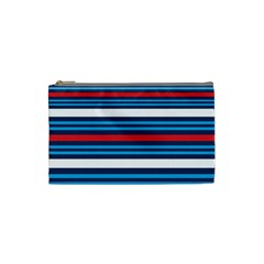 Martini Style Racing Tape Blue Red White Cosmetic Bag (small)  by Mariart