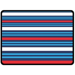 Martini Style Racing Tape Blue Red White Fleece Blanket (large)  by Mariart