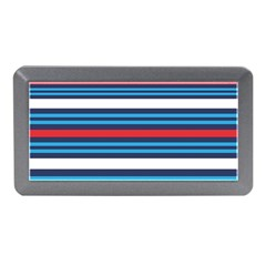 Martini Style Racing Tape Blue Red White Memory Card Reader (mini) by Mariart