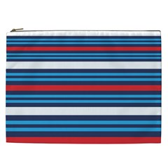 Martini Style Racing Tape Blue Red White Cosmetic Bag (xxl)  by Mariart