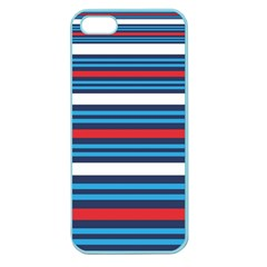 Martini Style Racing Tape Blue Red White Apple Seamless Iphone 5 Case (color) by Mariart